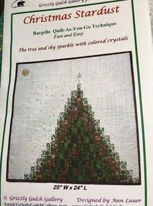 Christmas quilt as you go wall hanging