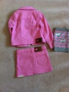 Hatley - Jean Jacket and 2 matching skirts Size 3T Kawartha Lakes Peterborough Area image 3