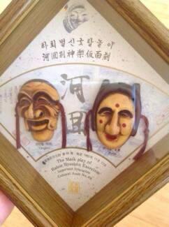 Vintage Korean Mask Play Wall Decor