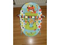 Baby bouncer with vibrating function as new