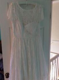 Monsoon Tea Length Wedding Dress Size 18 New With Tags