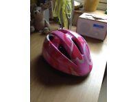 Child's bicycle helmet.