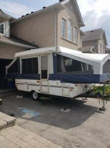 Pop up Trailer ready to camp