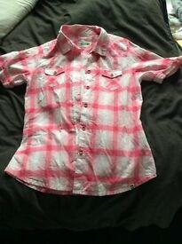 Roxy pink shirt, NEW never worn RRP £25