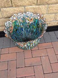 Colored stone chip plant pot
