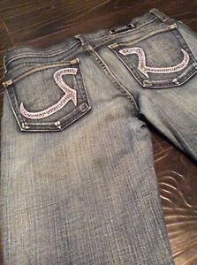 Size 27 Swarofski Crystal Rock and Republic denim