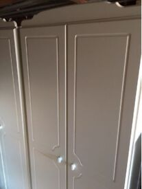 2x Nordic white wardrobes £70ono - PRICED TO SELL