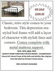 GREAT DEALS ON TWIN, DOUBLE, QUEEN AND KING BEDS