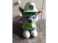 Paw patrol rocky build a bear teddy toy