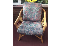 Wicker conservatory chairs x3