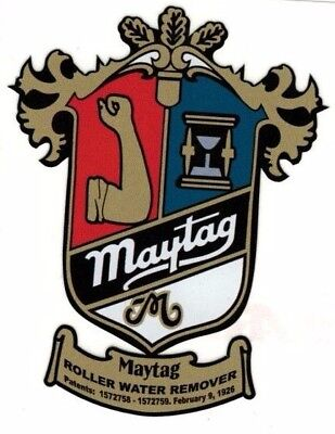 Maytag Crest Model 98 82 72 Gas Engine Motor Washing Machine Hit Miss Decal Med
