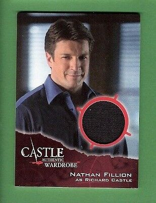 RICHARD CASTLE TV SHOW NATHAN FILLION WORN RELIC COSTUME SWATCH CARD FIREFLY - Tv Shows Costumes