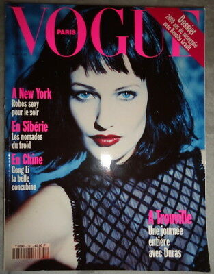 6dd3284c9cb Vtg Vogue Paris 11 1993 Karen Mulder Kate Moss Jean-Charles Castelbajac  Avedon