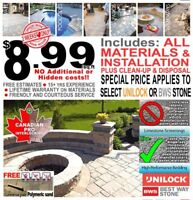 $AVE! Limited time interlocking sale $8.99/sqft ALL-IN installed