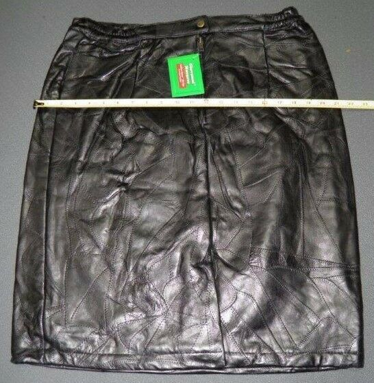 Giovanni Navarre Black Leather Skirt Size 18 S | eBay