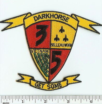 USMC 3rd Battalion/5th Marines DARKHORSE ! patch 3/5 OIF ! Iraq ! 3d Bn/5th Mar