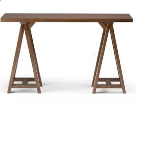 Brand-new sawhorse couch/hallway table