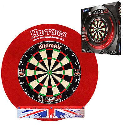 Dart Set - WINMAU Blade 5 + HARROWS Surround rot + Abwurflinie