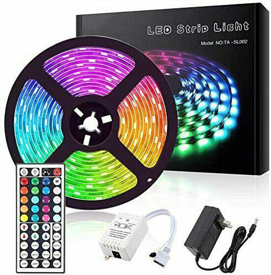 Led Strip Lights 16.4ft RGB Led Room Lights 5050 Led Tape Lights Color Changing Home & Garden