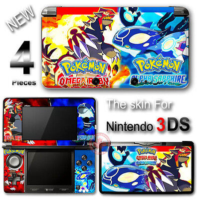 Pokemon Omega Ruby And Alpha Sapphire New SKIN STICKER COVER #1 for Nintendo
