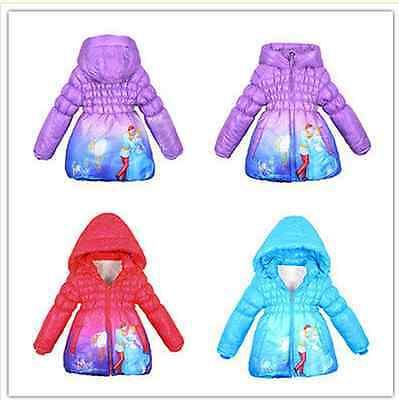 CUTE Disney Cinderella Princess Snowsuit Girls Jacket Coat Outwears hot sale  (Disney Princess Sale)