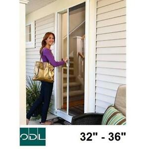 NEW ODL BRISA RETRACTABLE SCREEN BRSLWE 191274364 WHITE SLIDING MESH SCREENS DOOR DOORS SINGLE ENTRY EXTERIOR MESHES ...