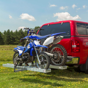 Double motorcycle carrier - hitch mounted