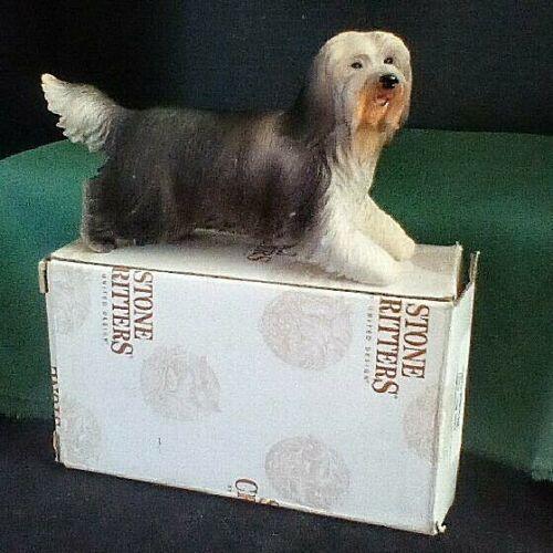 Bearded Collie Dog Figurine - United Design/Stone Critters #1527 - NIB
