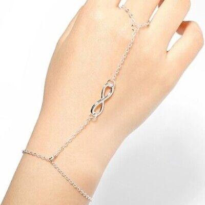 Armband Ring Sklavenarmband Sklave Handschmuck Kettchen Ethno Boho Infinity