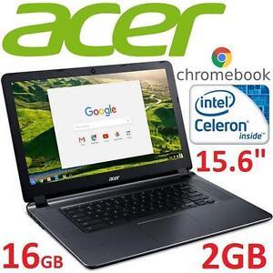 "REFURB ASUS CHROMEBOOK NOTEBOOK PC - 107671618 - 15.6"" DISPLAY  INTEL CELERON  2GB RAM 16GB STORAGE CHROME OS"