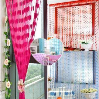 5 Colors-Romantic Heart String Curtain Drape For Wall Door Window