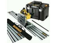 Dewalt plunge saw 110v plus 2 rails