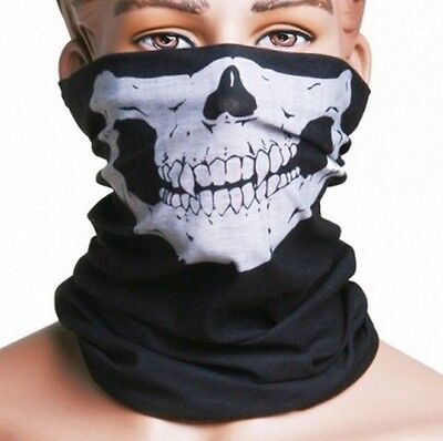 Skull Head Wear Multi Purpose Neck Warmer Face Mask Camping Hiking Fishing