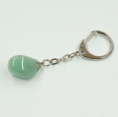 Aventurine natural gemstone keychain, keyring #1 ()