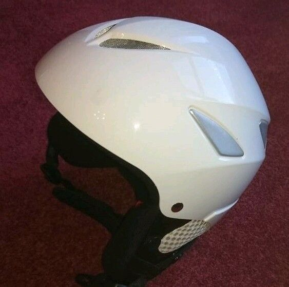 """Manbi Flyer"" Junior Snowboard Ski Helmet Xxs-51-52cm Gloss White"