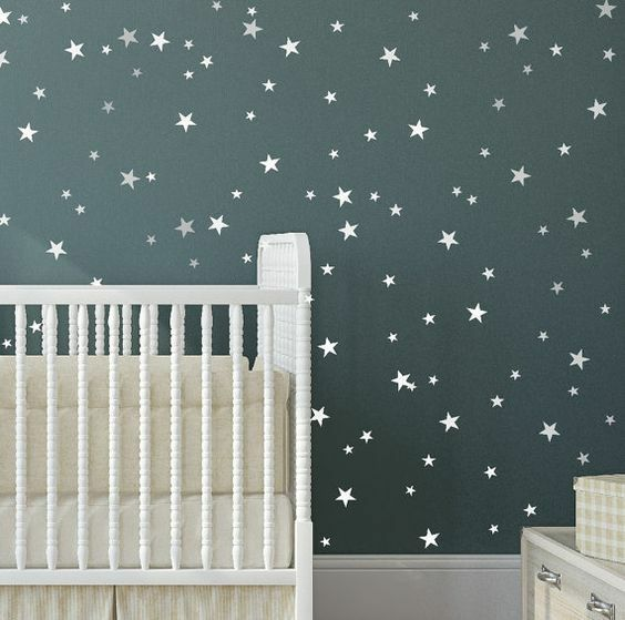 Home Decoration - Star Wall Stickers Mixed Size Kids Decal Art Nursery Bedroom Vinyl Decoration