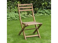 Windsor Wooden Folding Garden Bistro Chair (two available can buy single or both)