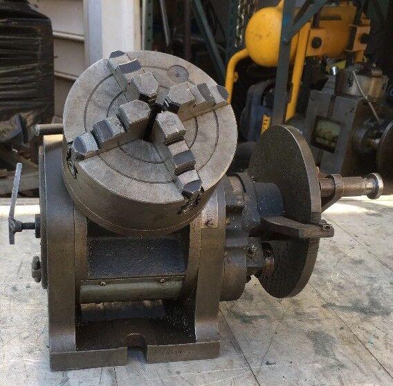 "10"" Cincinnati Universal Dividing Head 6"" 4 Jaw Chuck Milling Machine Gear Cut"