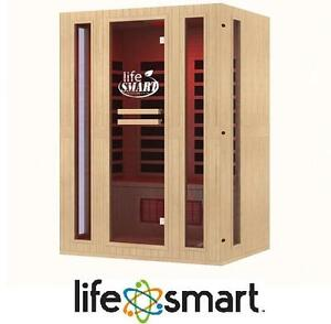 NEW LIFESMART 3 PERSON SAUNA ROOM SIGNATURE INFRACOLOR FULL SPECTRUM INFRARED - 9 DUAL TECH HEATERS - MP3 - REMOTE
