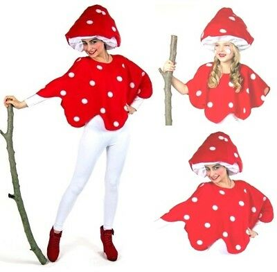 Kostüm Fliegenpilz Erwachsene Kinder Fliegenpilz-Hut Pilzhut Pilz Familienkostüm