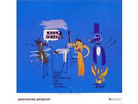 JEAN-MICHEL BASQUIAT - 'The dingos...' - original exhibition poster - Rome c2002 (Andy Warhol int.)