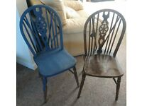 Two wooden dining chairs - great project!