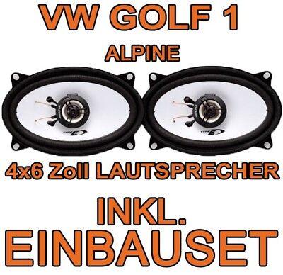 VW GOLF 1 I + CABRIO ALPINE KOAX LAUTSPRECHER BOXEN TÜR VORNE HINTEN FRONT HECK