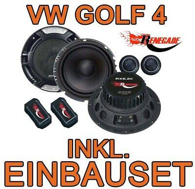 Gebraucht, VW GOLF IV 4 Lautsprecher KFZ PKW Auto Einbauset Boxen Renegade Frontsystem gebraucht kaufen  Saulheim