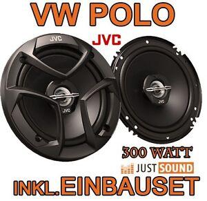 VW Polo 9N 9N3   300WATT  JVC  Lautsprecher BOXEN EINBAUSET TÜR VORNE HINTEN NEU