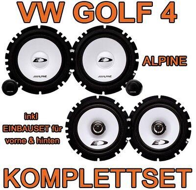 VW Golf 4 IV   ALPINE KOMPLETTSET LAUTSPRECHER BOXEN VORNE+HINTEN FRONT+HECK NEU gebraucht kaufen  Saulheim