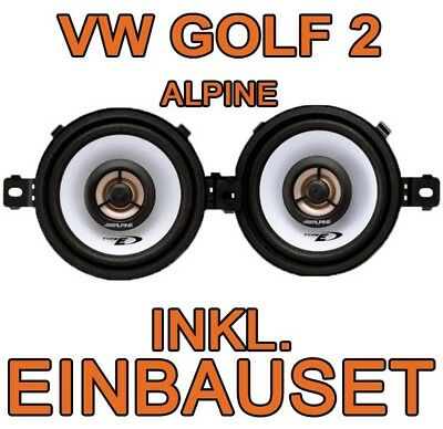 VW Golf 2 II  Amaturenbrett  ALPINE  Lautsprecher Boxen System Einbauset    NEU