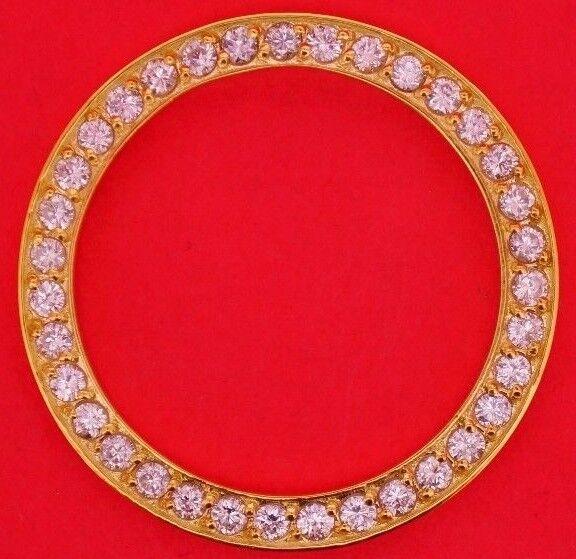 3.00 Carat White Diamond Bezel Made For Rolex DATEJUST/DAYDATE 36mm 10k YG Video
