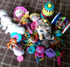 Mixture of babies toys