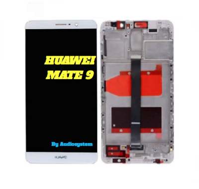 DISPLAY LCD+ TOUCH SCREEN+FRAME COVER per HUAWEI MATE 9 BIANCO MHA-L09 L29 VETRO